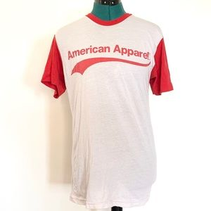 Vintage American Apparel Baseball Tee